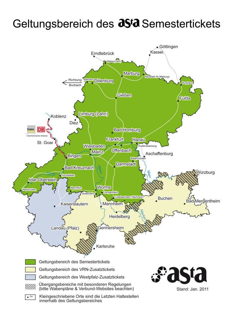 Semesterticket Frankfurt Geltungsbereich