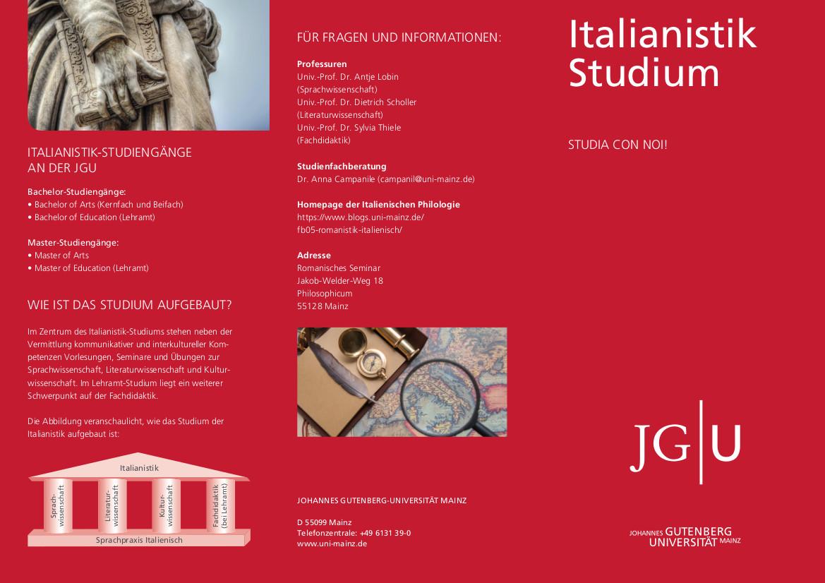 Italienisch Studieren