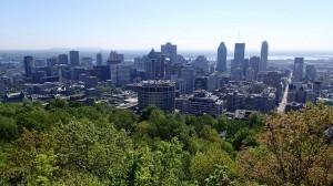 Blick vom Mont Royal auf Downtown