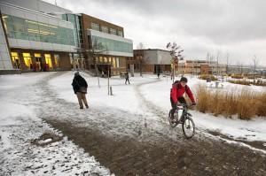 Als im Winter radfahrender Deutscher schafft man es in Sherbrooke sogar auf die Begrüßungsseite der Uni-Homepage