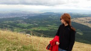 Blick vom Puy-de-Dôme auf Clermont-Ferrand
