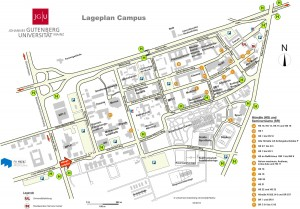 Map of the university campus at Johannes Gutenberg-University Mainz