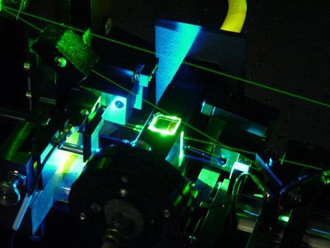 Dye Laser in the Basché group