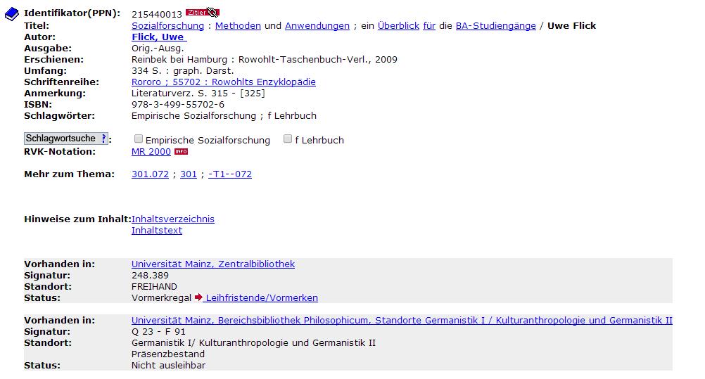 Forschungsliteratur   Johannes Gutenberg-Universität Mainz